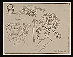[Lewis W. Rubenstein sketchbook of hunger walk to Washington 6]