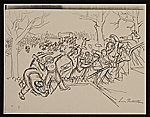 [Lewis W. Rubenstein sketchbook of hunger walk to Washington 8]