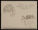 [Lewis W. Rubenstein sketchbook of hunger walk to Washington 14]