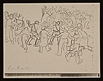 [Lewis W. Rubenstein sketchbook of hunger walk to Washington 15]