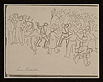 [Lewis W. Rubenstein sketchbook of hunger walk to Washington 16]