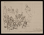 [Lewis W. Rubenstein sketchbook of hunger walk to Washington 20]