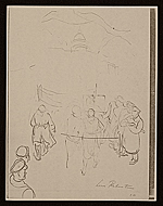 [Lewis W. Rubenstein sketchbook of hunger walk to Washington 21]