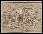 [Lewis W. Rubenstein sketchbook of hunger walk to Washington 22]