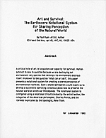 Art and survival: the Earthscore Notational System for sharing perception of the natural world