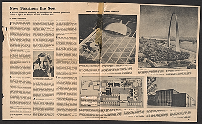 Now Saarinen the Son, article in The New York Times Magazine