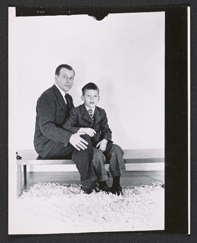 Eero Saarinen with son Eric