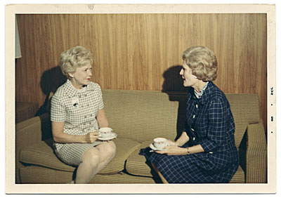 [Aline Saarinen and Patricia Nixon]