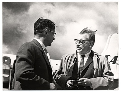 Eero Saarinen at an airport