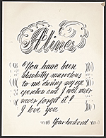Handwritten card from Eero Saarinen to Aline Saarinen