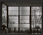 Interior view of the windows at the Eames House