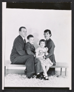 Eero Saarinen with first wife Lilian Swann Saarinen, and children Eric and Susan