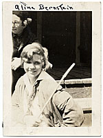 Aline Saarinen as a teenager
