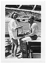 Aline and Eero Saarinen boating