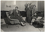 Aline and Eero Saarinen at a party
