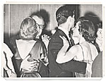 Aline and Eero Saarinen dancing at a party