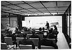 Eero Saarinen giving a design presentation