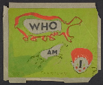 Cover design sketch for Who Am I?