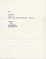 Roy Fox Lichtenstein, Highland Park, N.J. letter to Audrey Sabol