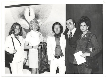 Baruj Salinas and Ernesto Mitrani with 3 Women
