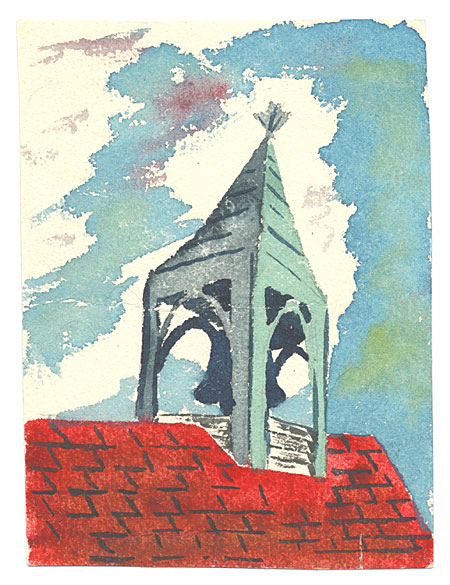 Red Roof top with Bell Tower