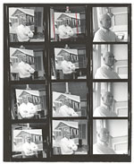A contact sheet of portraits of Emilio Sanchez