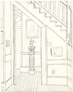 Sketch inside the Schoolhouse
