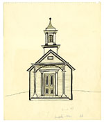 [Schoolhouse drawing ]