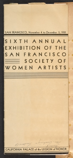 Exhibition catalog for the Sixth annual exhibition of the San Francisco Society of Women Artists