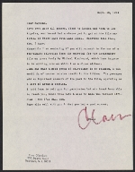 Claes Oldenburg letter to Raymond Saroff