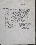 Ad Reinhardt letter to Bertha Schaefer