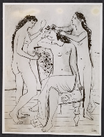 Reproduction of Pablo Picasso's 1923 work Three graces