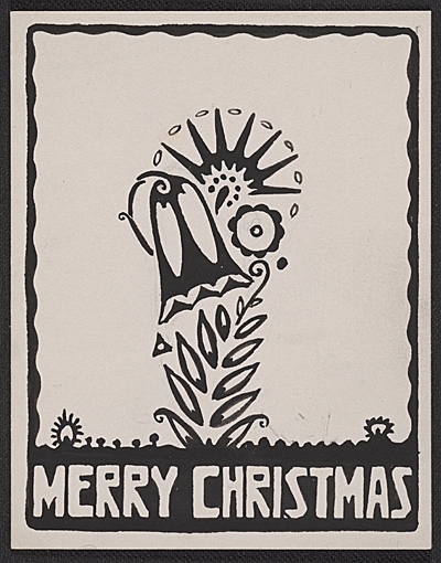 Rudolph Schaeffer Christmas card to unidentified recipient