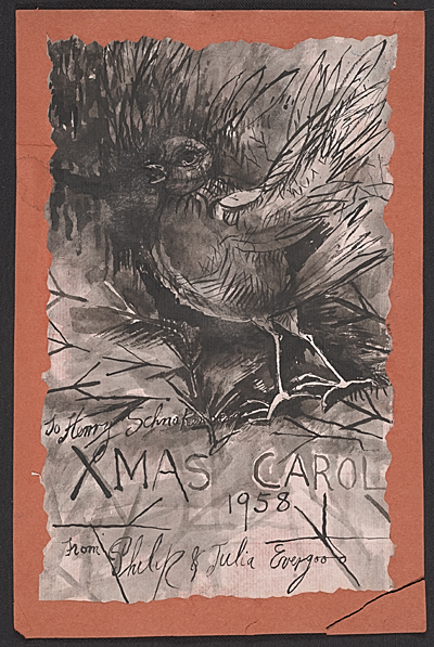 Philip Howard Evergood Christmas card to Henry Ernest Schnakenberg