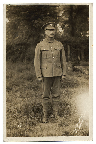 [Full Portrait of Walter Schofield in military uniform]