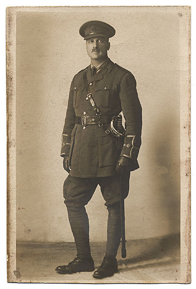 [Portrait of W.E. Schofield in uniform]