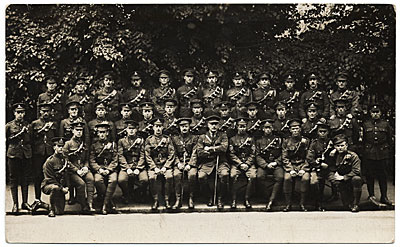 [W.E. Schofield portrait with Artillery Company during World War I.]
