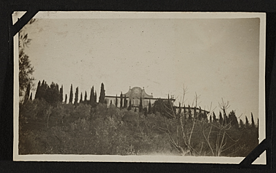 The Villa Curonia, from afar.