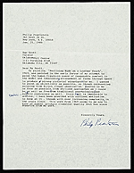 Philip Pearlstein letter to Sue (Sue A.) Scott