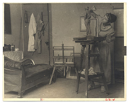 [Eugenie Gershoy in her studio.]