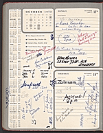 1973 daily planner