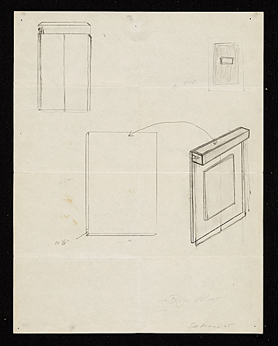 [Construction diagrams for Walter De Maria's Silver portrait of Dorian Gray]