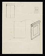 [Construction diagrams for Walter De Maria's Silver portrait of Dorian Gray ]
