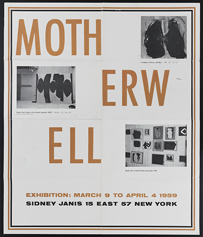 Sidney Janis Gallery exhibition poster for Motherwell