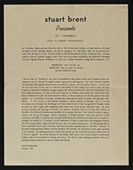 [Seven Stairs Gallery exhibition announcement for Stuart Brent presents Cy Twombly 1]