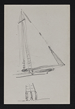[Sketch of rigging on a sailboat 1]