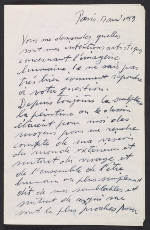 Alberto Giacometti letter to Peter Selz