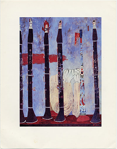 Reproduction of Ben Shahn's painting, Clarinets with Tin Horn