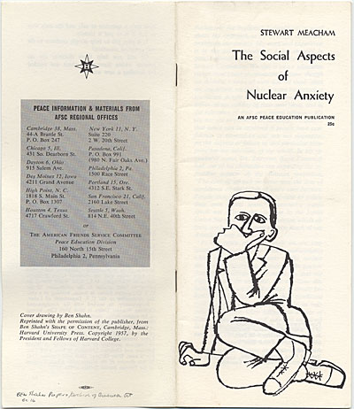 'The Social Aspects of Nuclear Anxiety'