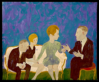 Two men and two women seated